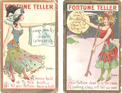 Vintage Fortune Teller postcards