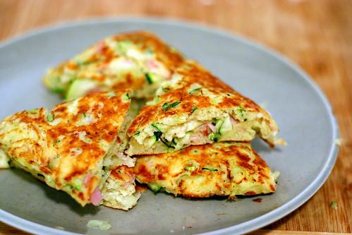zucchini, ham and ricotta fritters | smitten kitchen