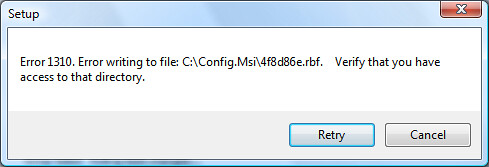Error while installing the latest version of Microsoft Office for Vista