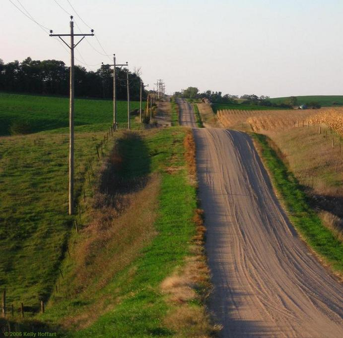 Gravel Road, South of Pierce, Nebraska