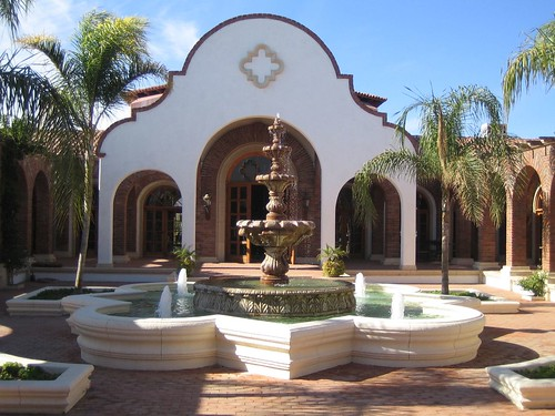 Adobe  Courtyard Fountain