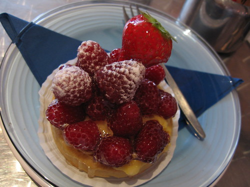 Raspberry tart- Cafe Deco