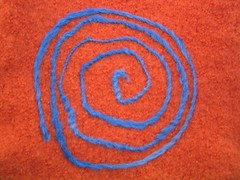 Needle felted spiral