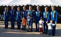 Balboa kids with the Blue Angel pilots