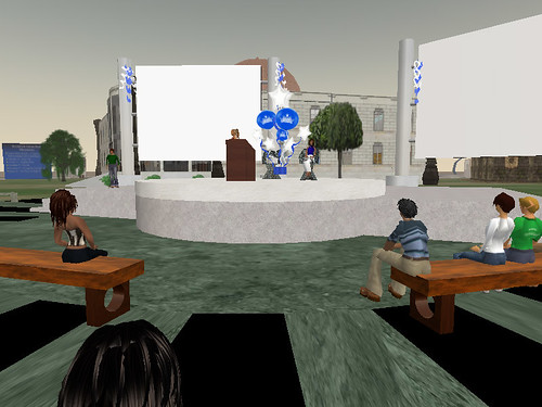 Second Life Library opening 2