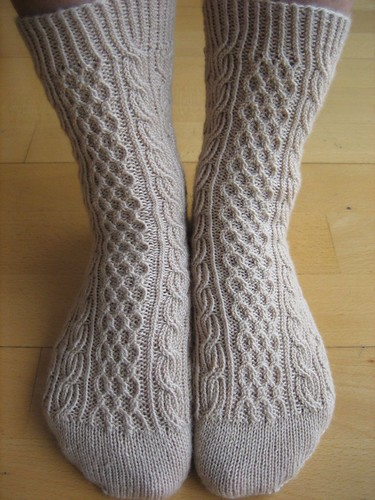 Bayerische socks, finished (4)