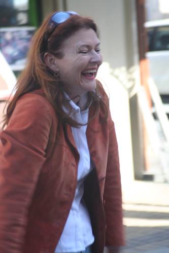 Laughing soprano Fiona Mariah