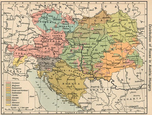 Map of Austro-Hungarian Empire in 1911