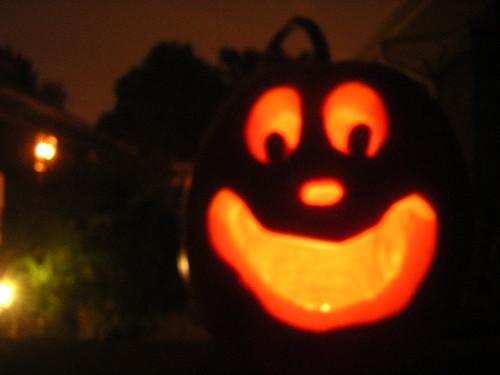 jack o. lantern lit