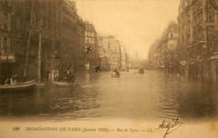 Inondations de Paris - Rue de Lyon (Janvier 1910)