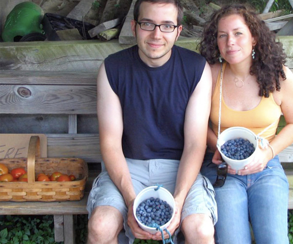 Samantha and Dave with Berries