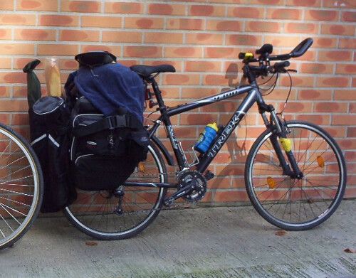 Loaded bike for  touring  - Trek 4300