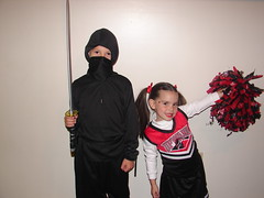 My lil ninja and pom pom girl