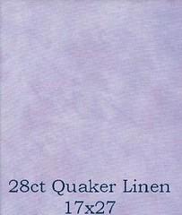 28ct quaker linen
