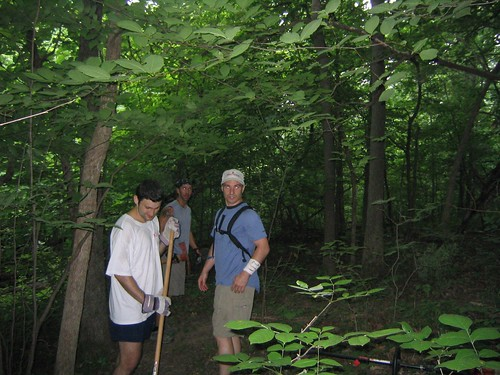 Trail Work Day in WyCo Park, June 2006