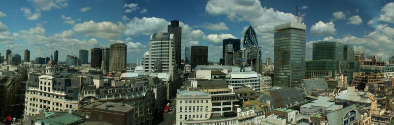 View from the top of the Monument over the City of London