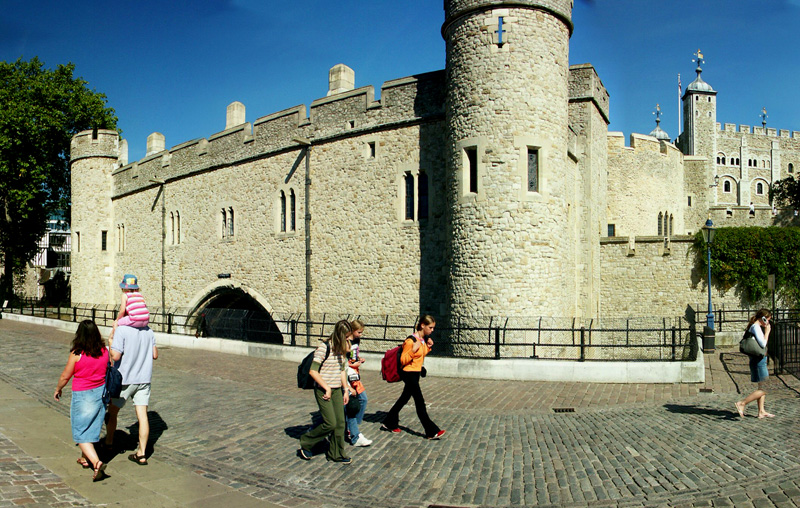 Tower of London from near to Tower Bridge