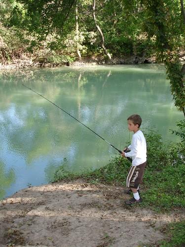 Justin fishing