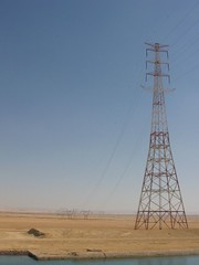 3815f Power lines crossing Suez