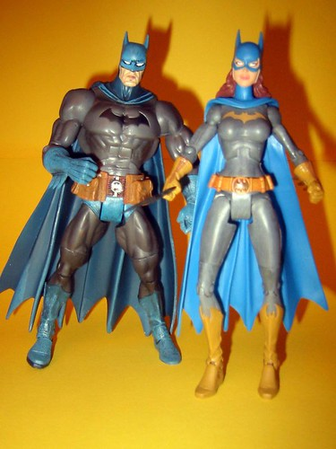 DC Superhero Batman and Batgirl
