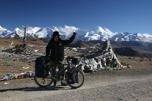 At the Tong La Pass (5050m), Friedship Highway, Tibet.