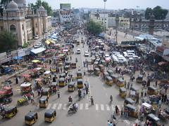Traffic around Charminar