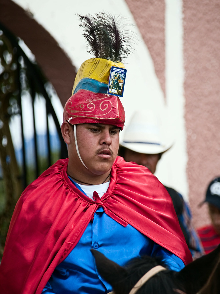 Another rider at the San Martín festival