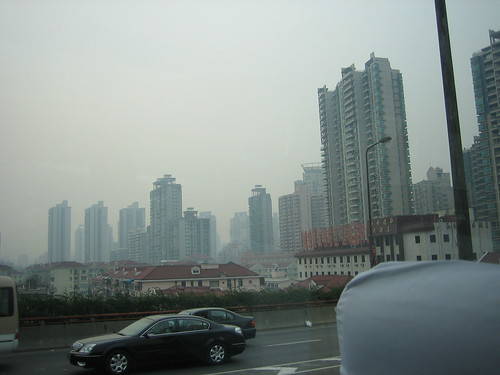 Buildings in the haze