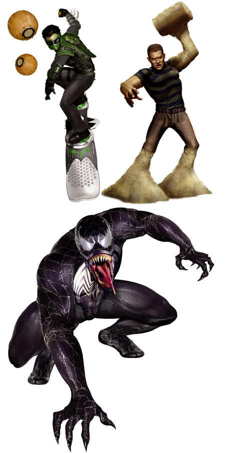 Spiderman 3 villanos