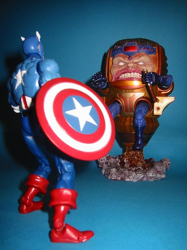 Captain America vs. Modok. Nice Build-A-Figure.
