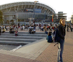 At Telstra stadium