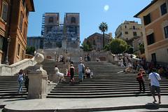 Gereja Trinita dei Monti dan Spanish Steps, Rome, Italy