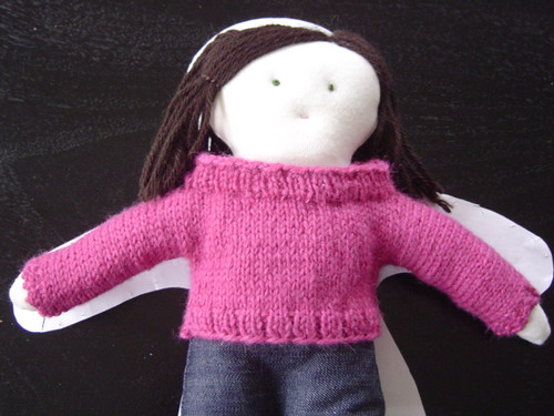 doll with sweater