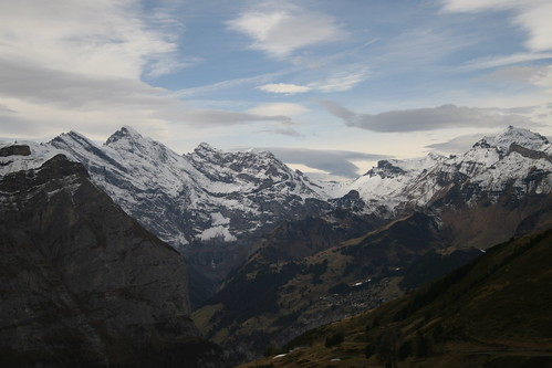 View from the train up to Jungfrauboch