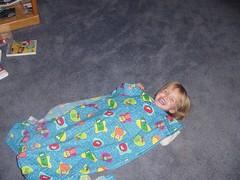 Veggie Tales Blanket--Olivia