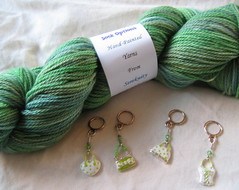Gorgeous Sereknity green sock yarn