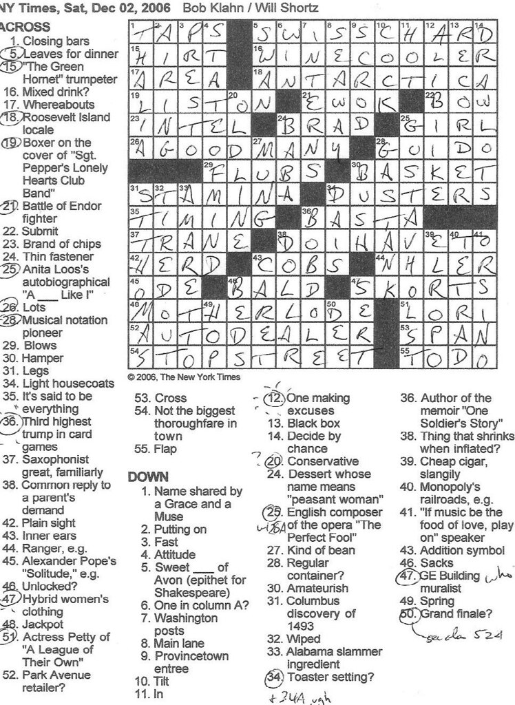 image relating to Printable Ny Times Crossword Puzzles identify Rex Parker Does the NYT Crossword Puzzle: SATURDAY, Dec. 2