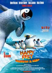 Nuevo póster español de 'Happy Feet' (Rompiendo el hielo)