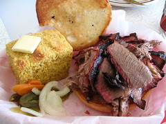 Brisket sandwich with cornbread