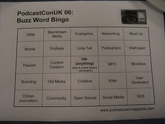 Podcasting Bingo