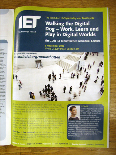 IET Mountbatten Lecture 2007 - that's me that is (and that's Darren's lovely photo)