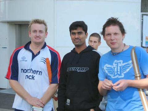 Arun and Jon with Scott Styris