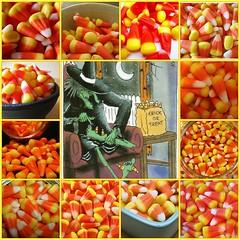 Candy Corn Mosaic by Mojeecat