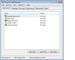 Task Manager in Windows Vista