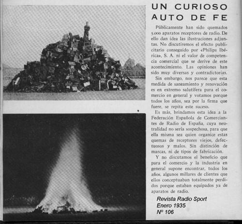 Quema de radios 1935