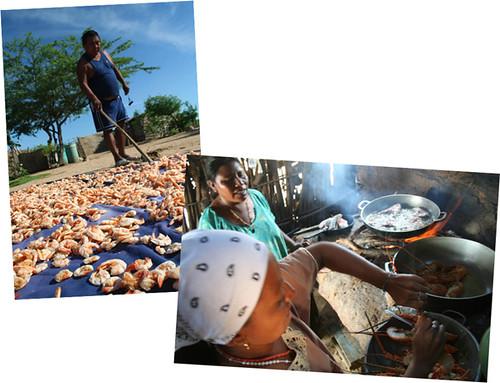Comida en la costa de la Alta Guajira