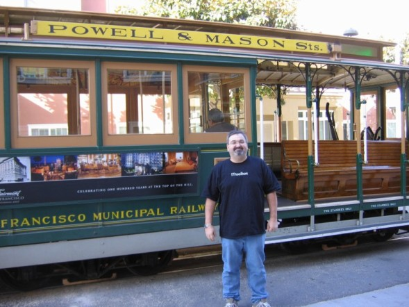Me in San Francisco by a cable car 1