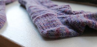 New England socks - heel