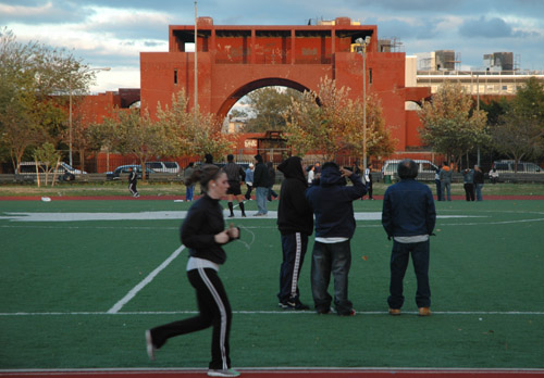 Running in McCarren Park