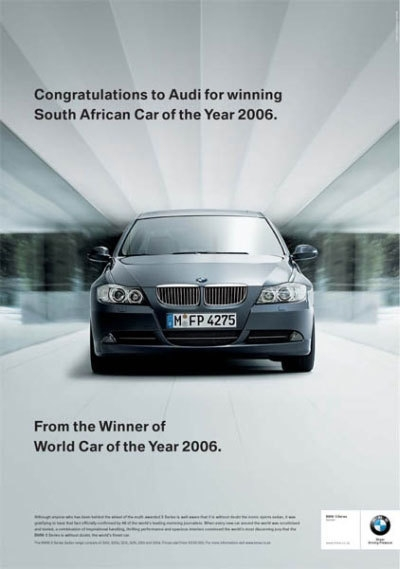 Competing Car Ads (BMW)